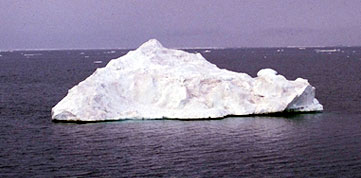 An Arctic Ocean floeberg from the Environment Canada website (photo uncredited)
