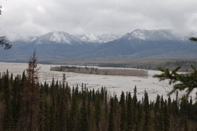 The island in the centre is surrounded by ice jam, instead of its usual water. Manuela's photo, the sight she says filled her with definite fear, not just concern.