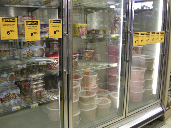 buckets of icecream