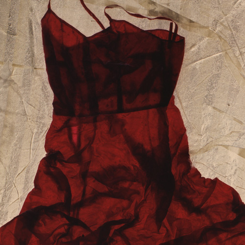 """Strapless,"" silk in ice, no date or dimensions (photo: Nicole Dextras)"