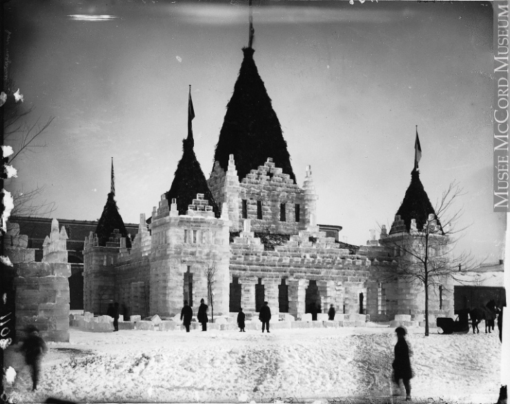 William Notman's well-circulated photo of the 1883 Ice Palace