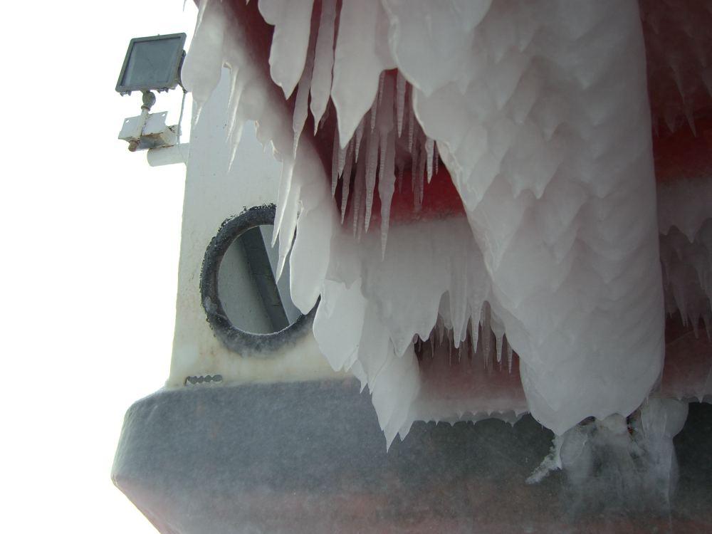 ferry icicles porthole-s