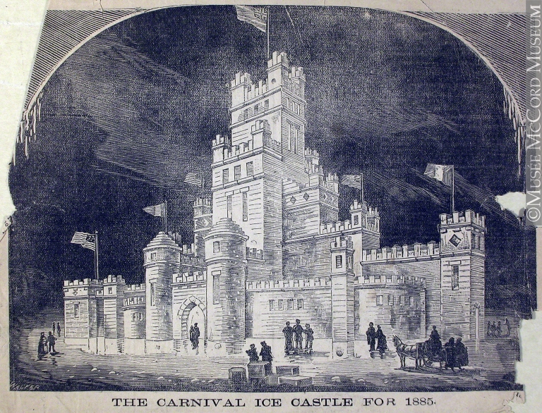 The Carnival Ice Castle for 1885, by John Henry Walker