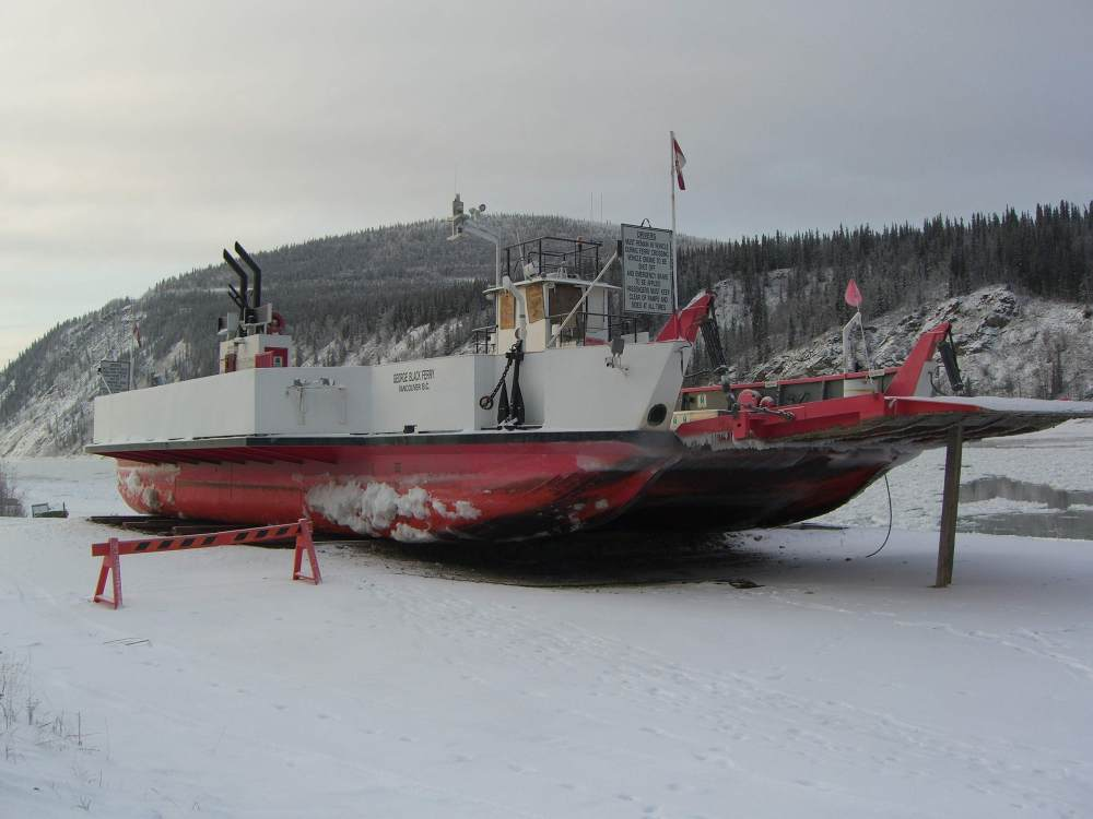 docked ferry w icicles-s